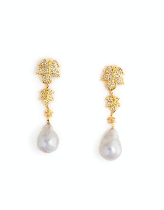 3 tier ivy earrings
