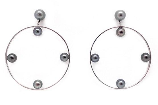 Tahitian Wheel Earrings